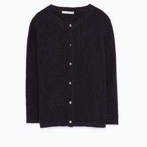 Zara Knit Black Jeweled/Gem Cardigan